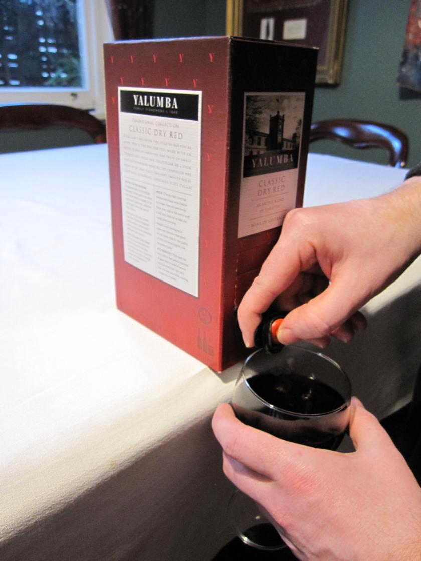 Pour cask wine